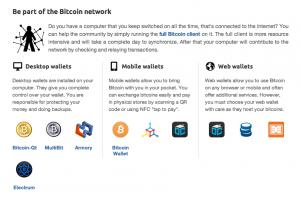 Wählen Sie Ihre Brieftasche für Ihre Bitcoin Transaktionen