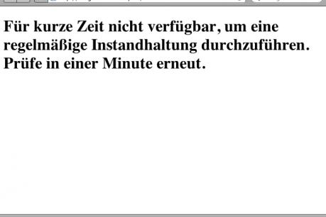 """WordPress Fehler WordPress-Blog-Fehler """"Für kurze Zeit nicht verfügbar"""""""