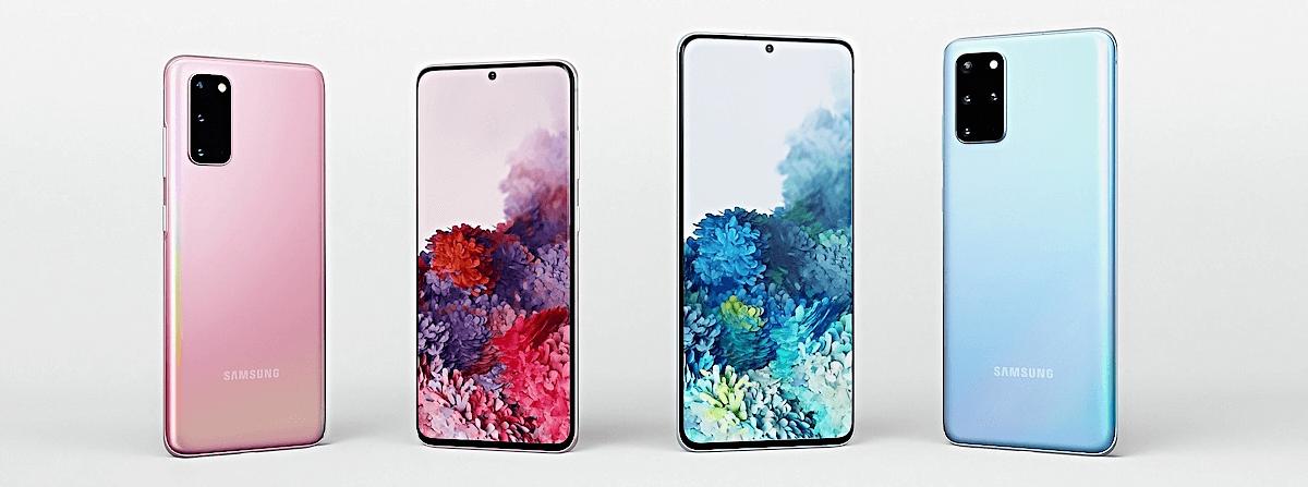 Alle Samsung Galaxy S20 Versionen zusammen nebeneinander
