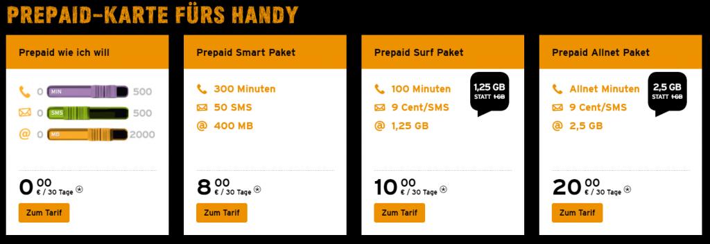 Preise bei Congstar für Handy Flat ohne Vertrag