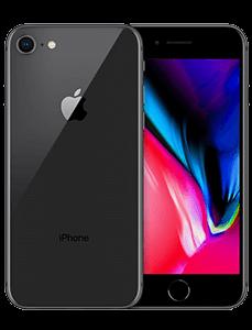 Apple iPhone 8 vorne und hinten Ansicht nebeneinander