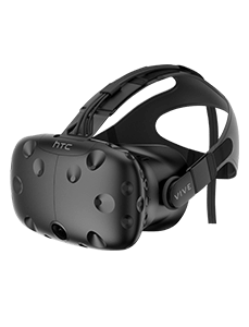 HTC Vive VR Brille nach links gerichtet