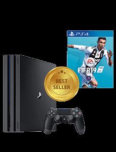 PS4 Pro Konsole gemeinsam inkl. Spiel FIFA 2019 Bundle