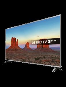 LG 4K TV 65 Zoll in schräger Ansicht