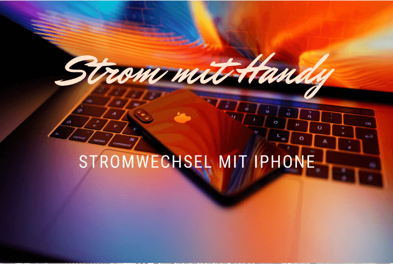 strom und Handy, Apple iPhone auf Macbook