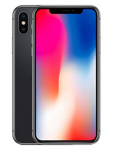Apple iPhone X zeigt blau-rotem Startbildschirm