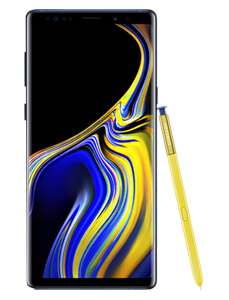 Samsung Note 9 stehend, inklusive angelehntem Bedien-Stift