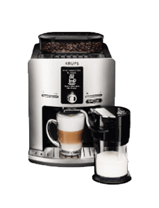 Krups Kaffeemaschine inklusive Tasse daneben