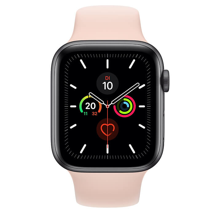 Apple Watch 5 in Rosa von vorne