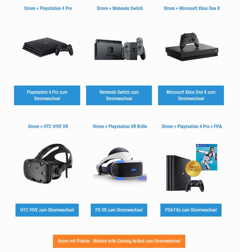 Gamign Artikel, von VR Brille bis zu PS4 Pro