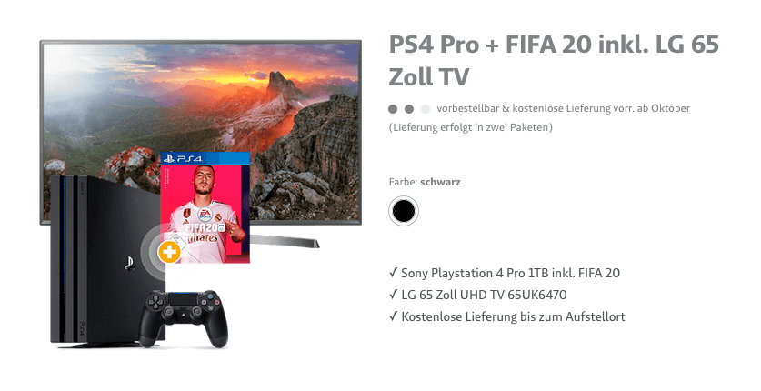 4k TV & Playstation Bundle
