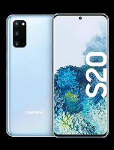 Samsung Galaxy S20, vorne und hinten Ansicht, nebeneinander